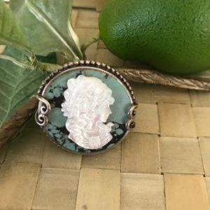 Jewelry - Sterling Silver Composite Cameo Ring